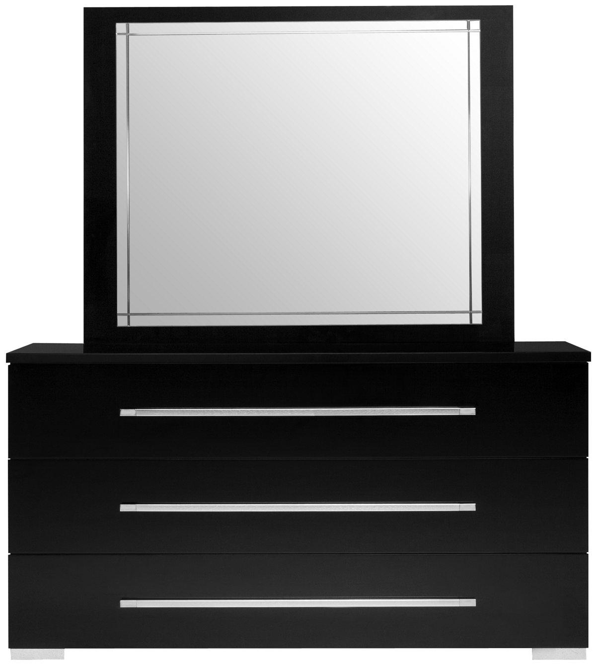 Bedroom Furniture For Teens Dimora Black Dresser Amp Mirror