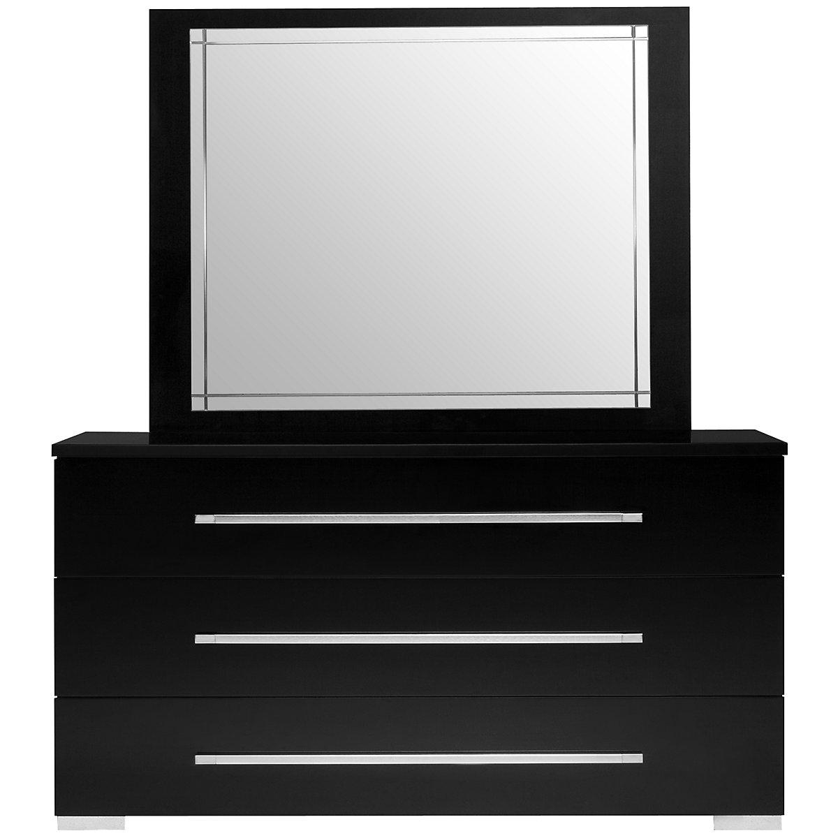 Dimora Black Dresser & Mirror