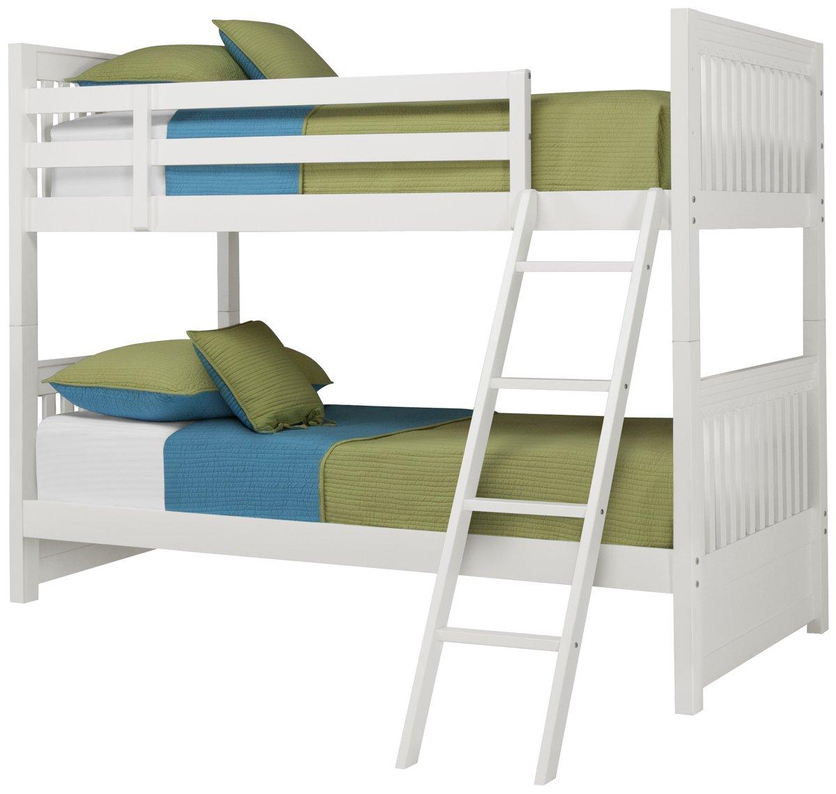 Lauren White Wood Bunk Bed