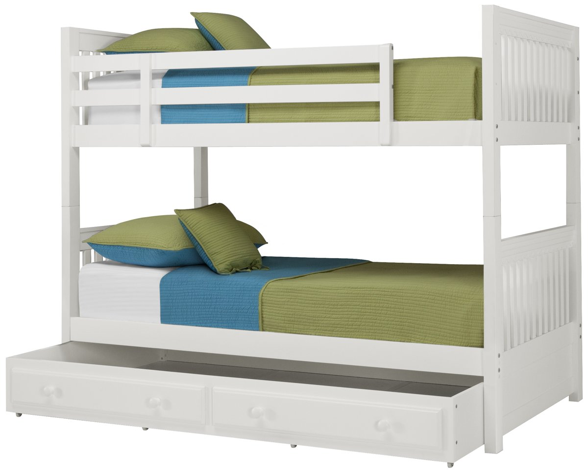 Lauren White Wood Trundle Bunk Bed