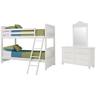 Lauren White Bunk Bed Bedroom