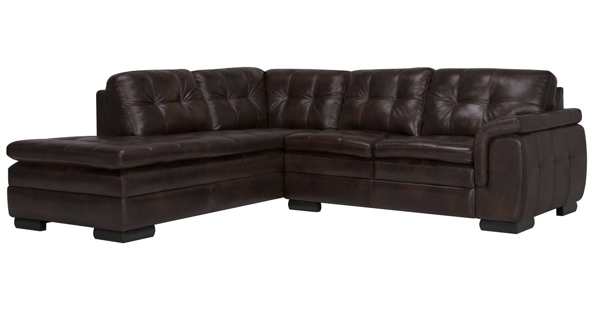 Chaise end sofa scott 4 seater left hand facing chaise end for Brown leather chaise end sofa