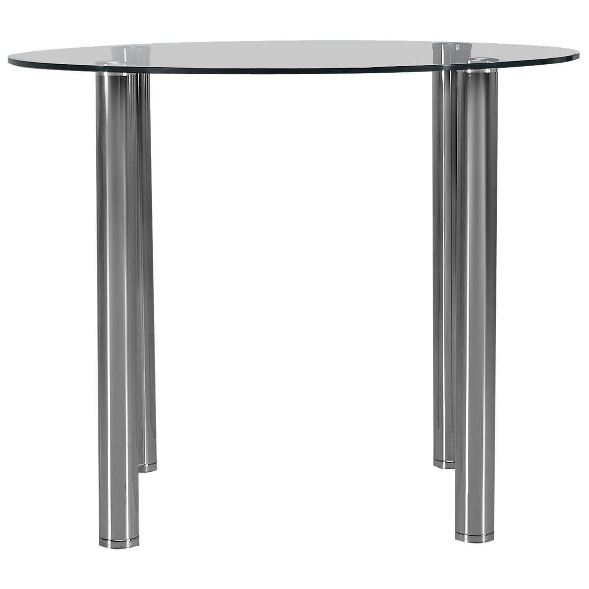 Napoli Glass Glass Round High Dining Table
