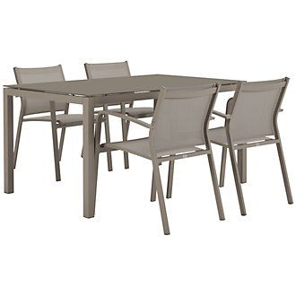 "Lisbon Khaki 60"" Rectangular Table & 4 Chairs"