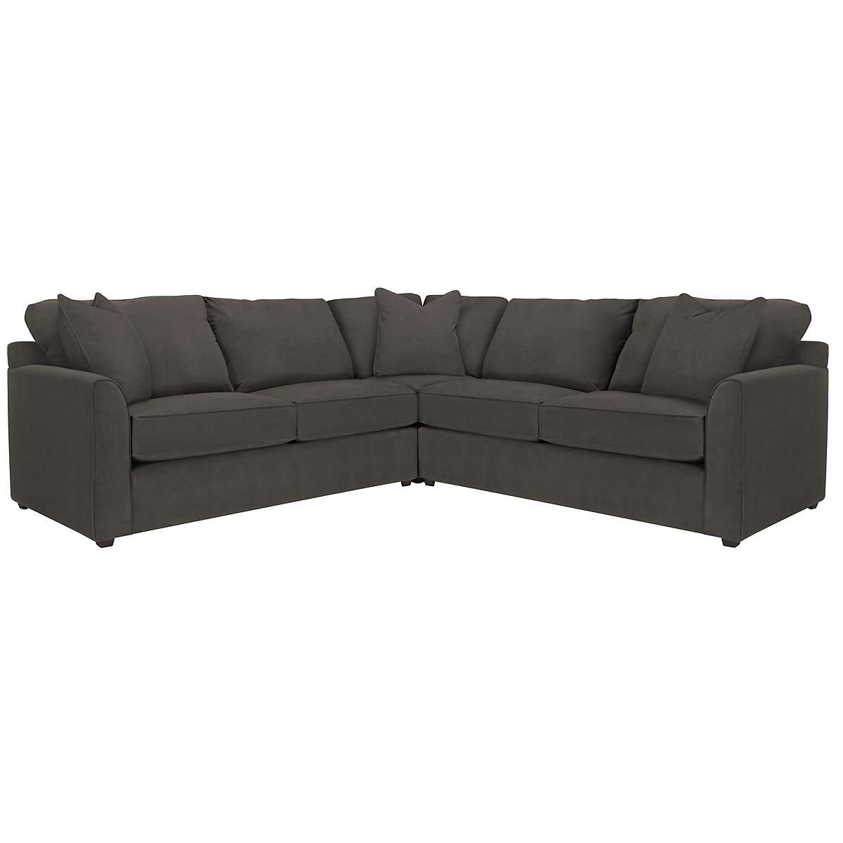 Express3 Dark Gray Microfiber Small Two-Arm Sectional