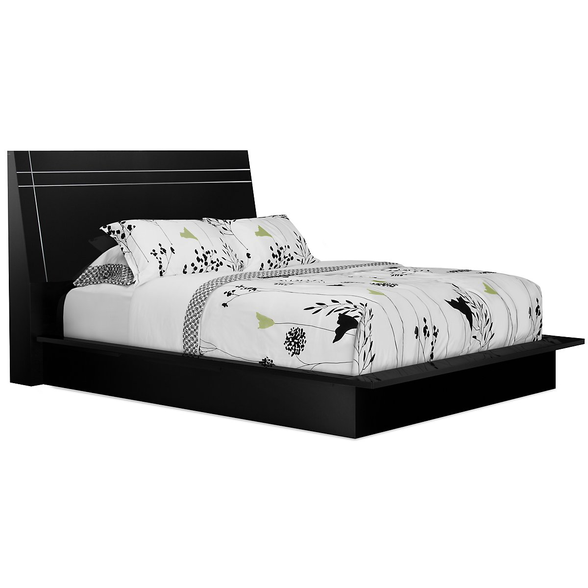 city furniture dimora black wood platform bed - dimora black wood platform bed