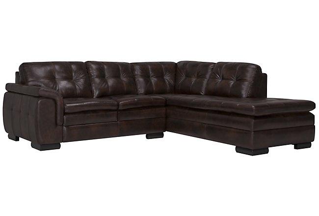 Prime Trevor Dark Brown Leather Small Left Bumper Sectional Lamtechconsult Wood Chair Design Ideas Lamtechconsultcom