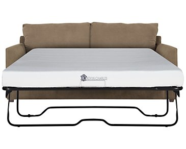 Express3 Light Brown Microfiber Memory Foam Sleeper