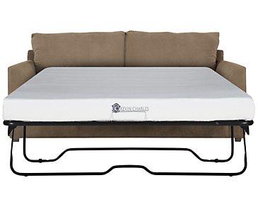 Express3 Light Brown Microfiber Memory Foam Sleeper