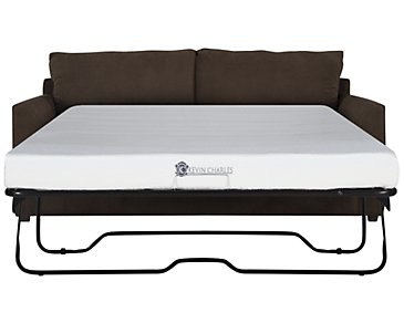 Express3 Dark Brown Microfiber Memory Foam Sleeper