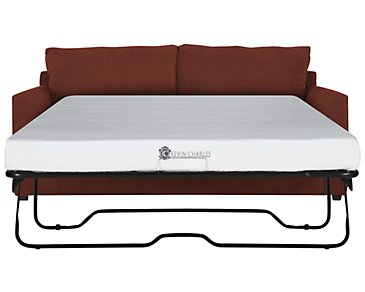 Express3 Red Microfiber Memory Foam Sleeper