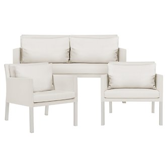 Lisbon2 White Outdoor Living Room Set