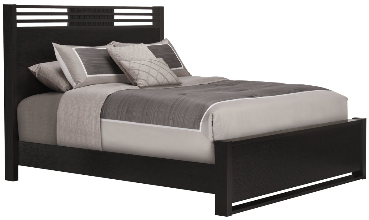 Bedroom Accent Wall Gianna Dark Tone Panel Bed Twin Queen Amp King Beds