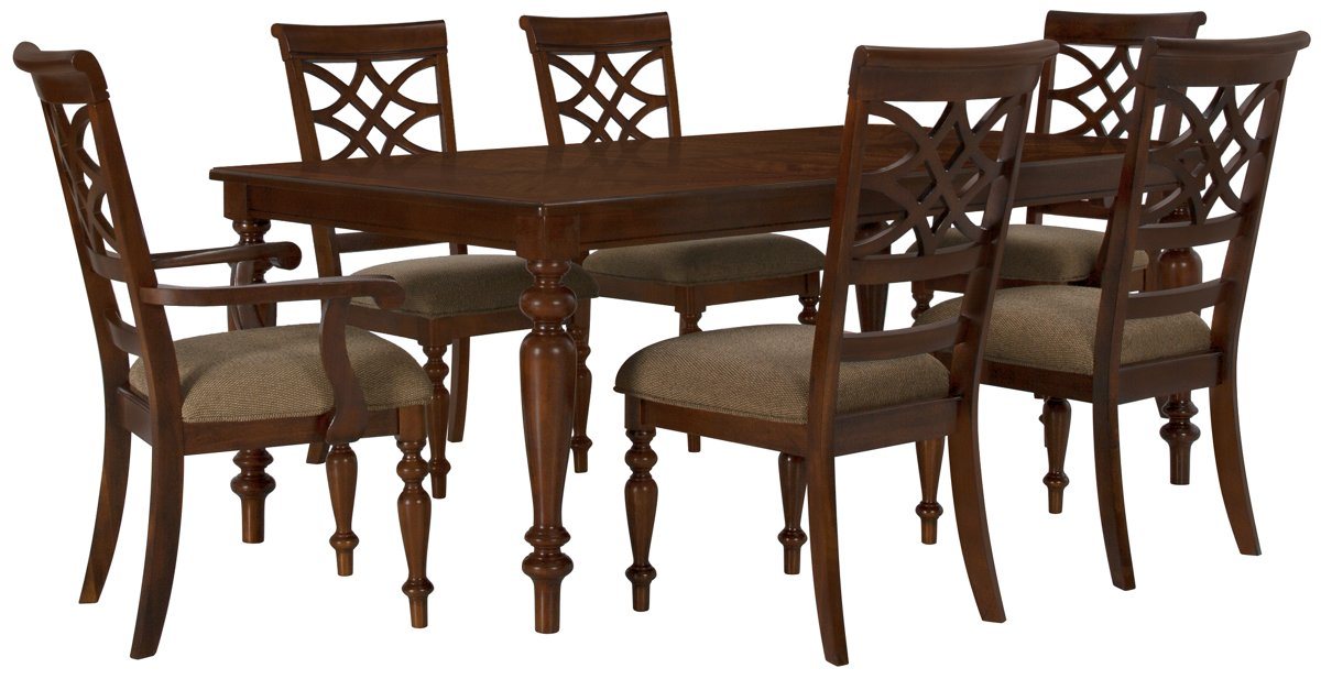 City Furniture Oxford Mid Tone Rectangular Table & 4 Chairs