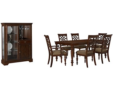 Oxford Mid Tone Rectangular Dining Room