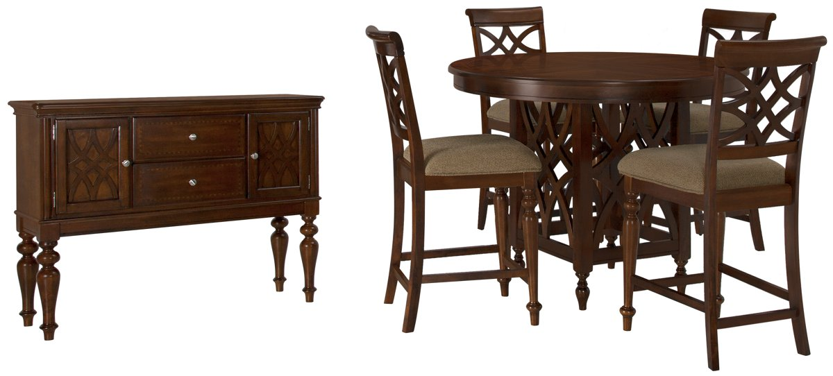 Oxford Mid Tone Wood High Dining Room