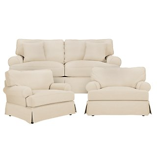 Levi Beige Cotton Down Living Room