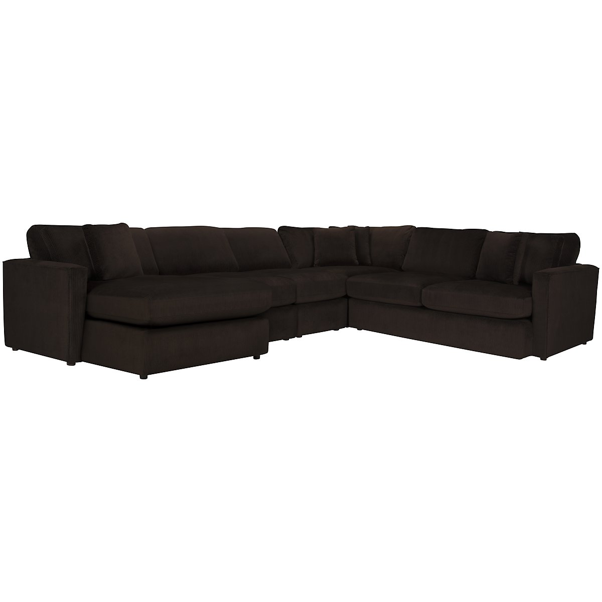 Tara2 Dark Brown Microfiber Left Chaise Sectional