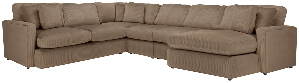 Tara2 Dark Taupe Micro Right Chaise Sectional