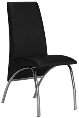 Mensa Black Upholstered Side Chair