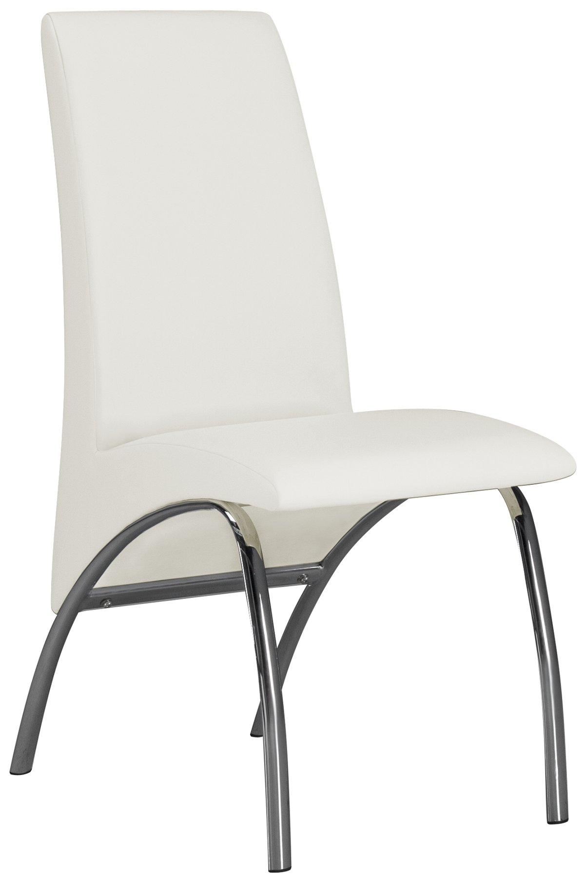 Mensa White Upholstered Side Chair