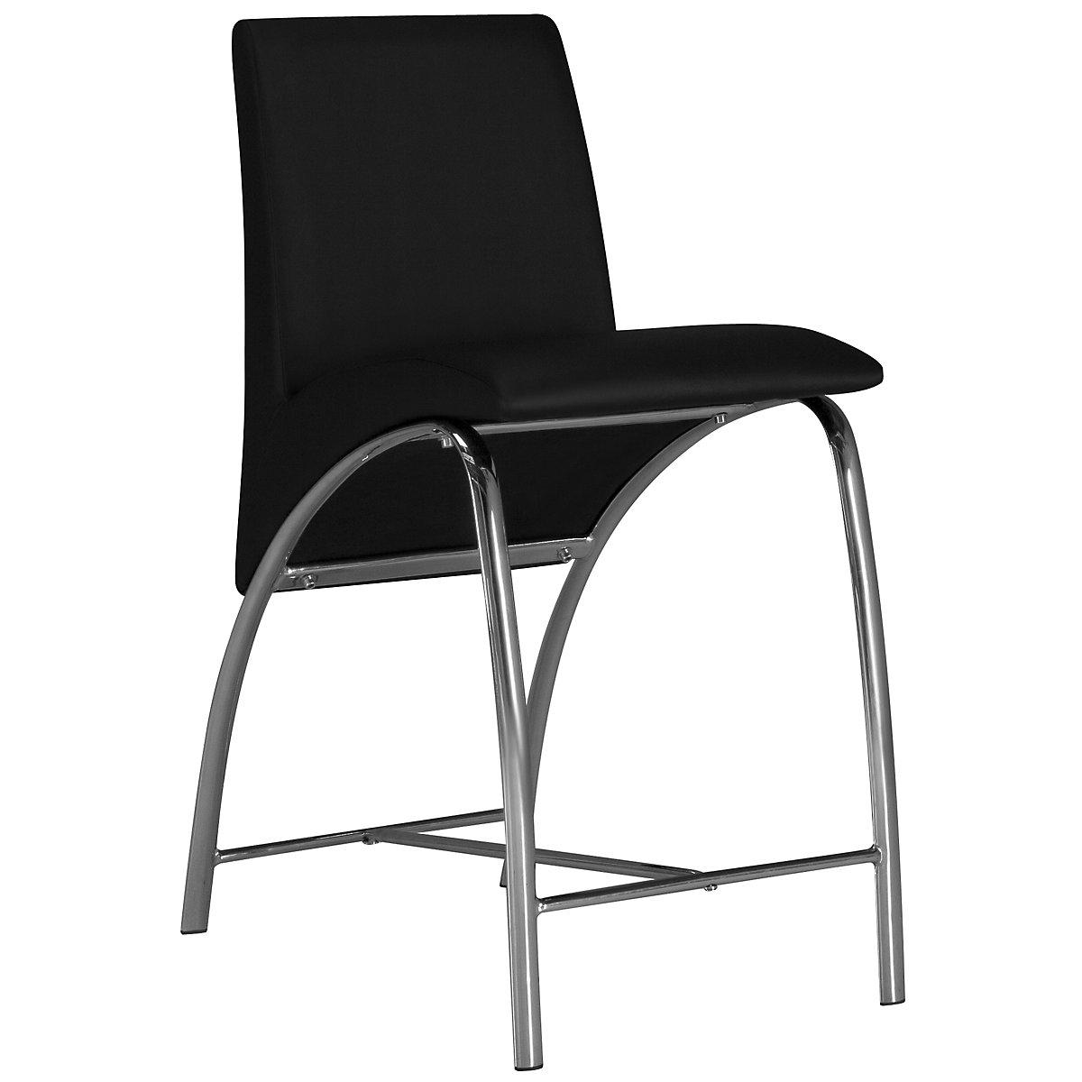 """Mensa Black 24"""" Upholstered Barstool"""
