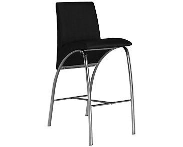 """Mensa Black 30"""" Upholstered Barstool"""