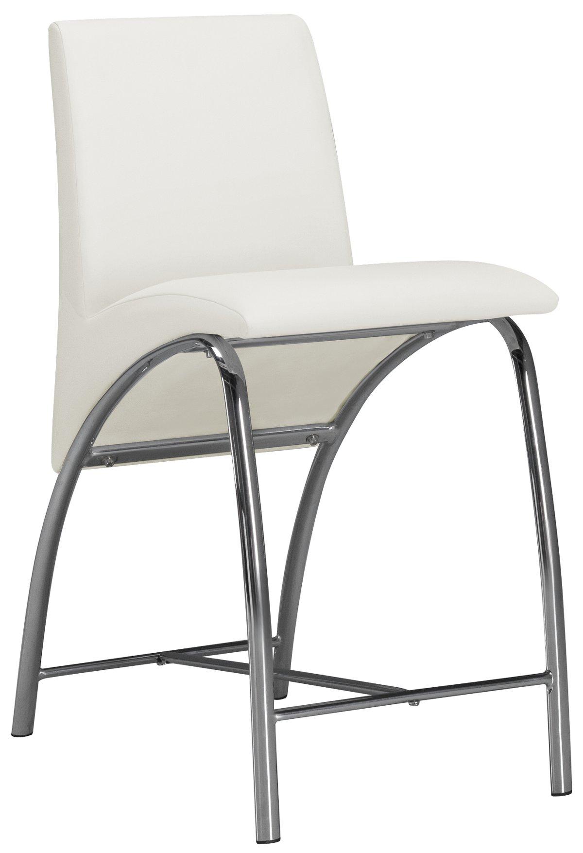"""Mensa White 24"""" Upholstered Barstool"""