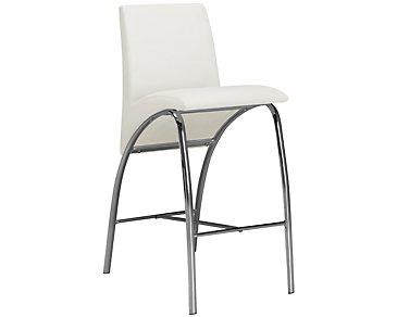 """Mensa White 30"""" Upholstered Barstool"""