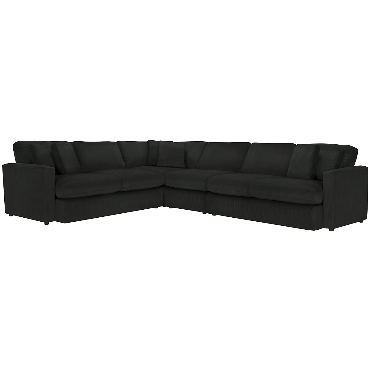 Tara2 Dark Gray Microfiber Large Two-Arm Sectional