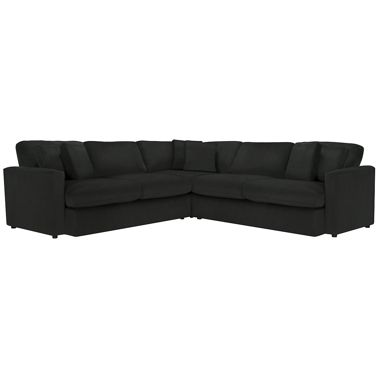 Tara2 Dark Gray Microfiber Small Two-Arm Sectional