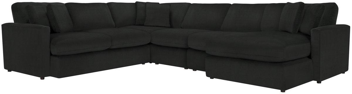 Tara2 Dark Gray Micro Right Chaise Sectional