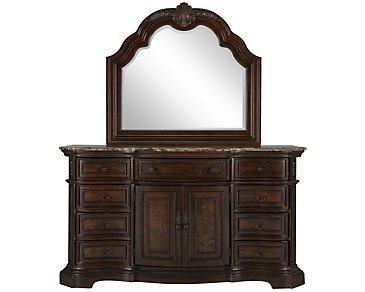 Moreau Dark Tone Dresser & Mirror