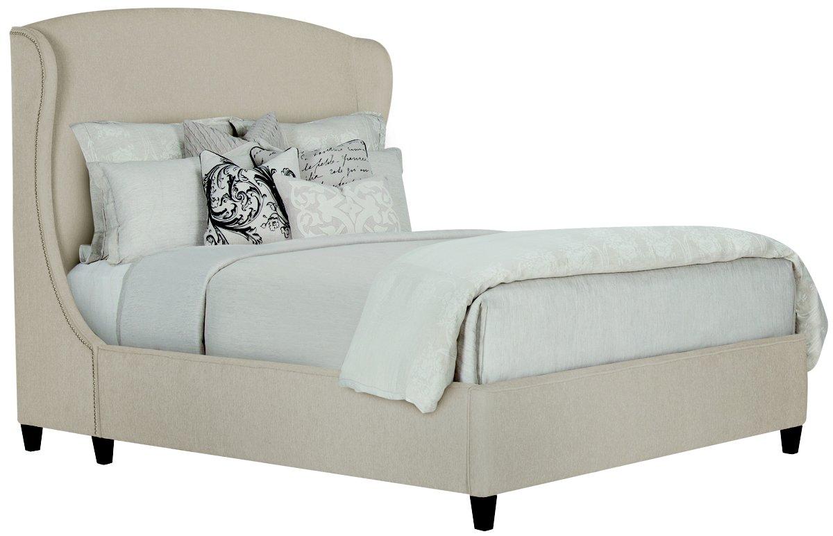 city furniture: canyon lt taupe upholstered platform bed
