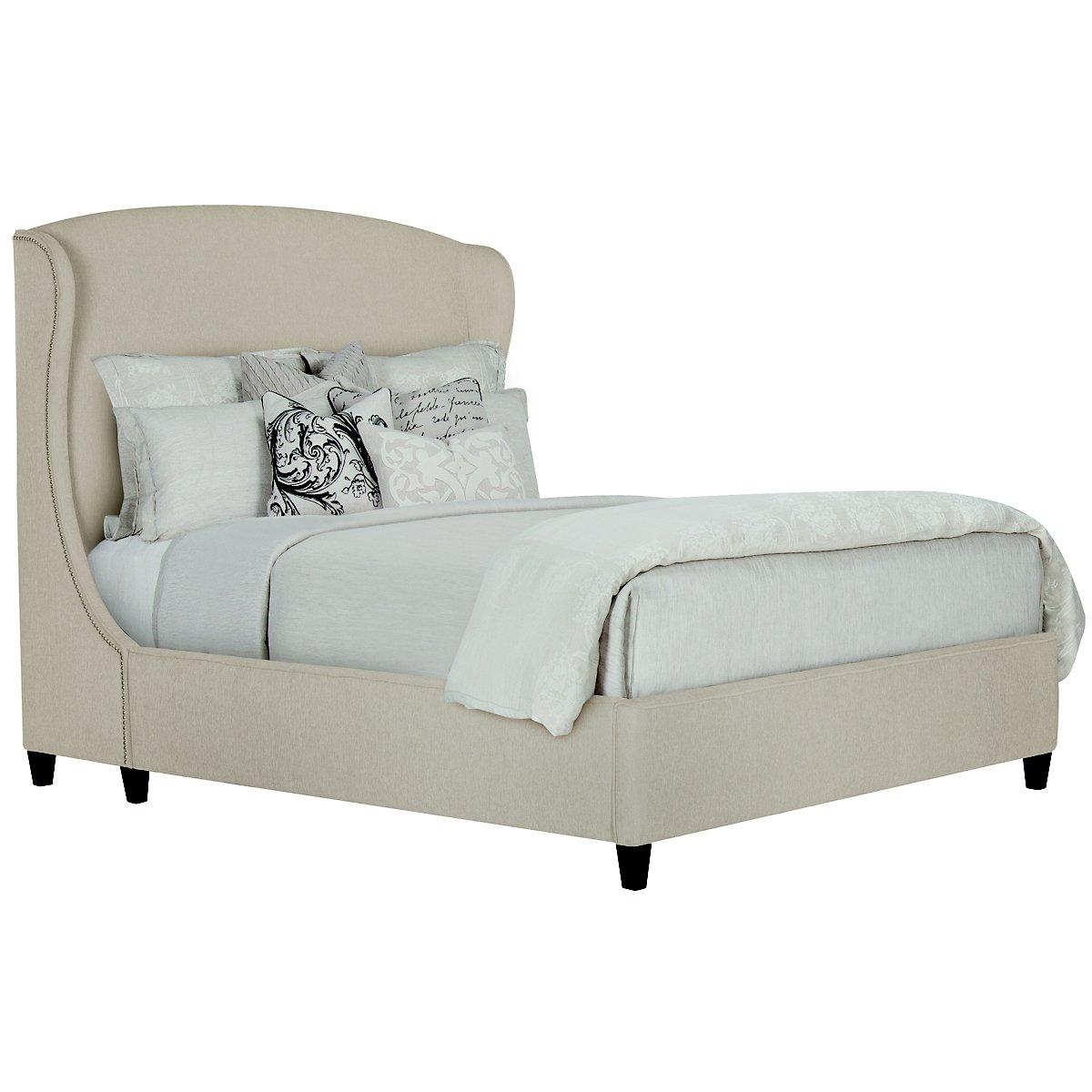 Canyon Light Taupe Upholstered Platform Bed