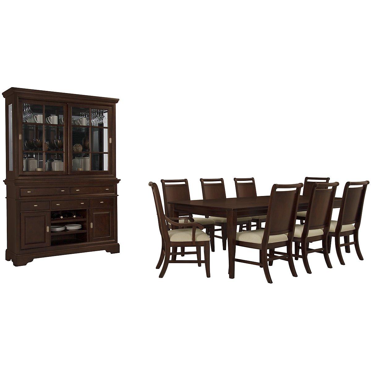 Canyon Dark Tone Rectangular Dining Room