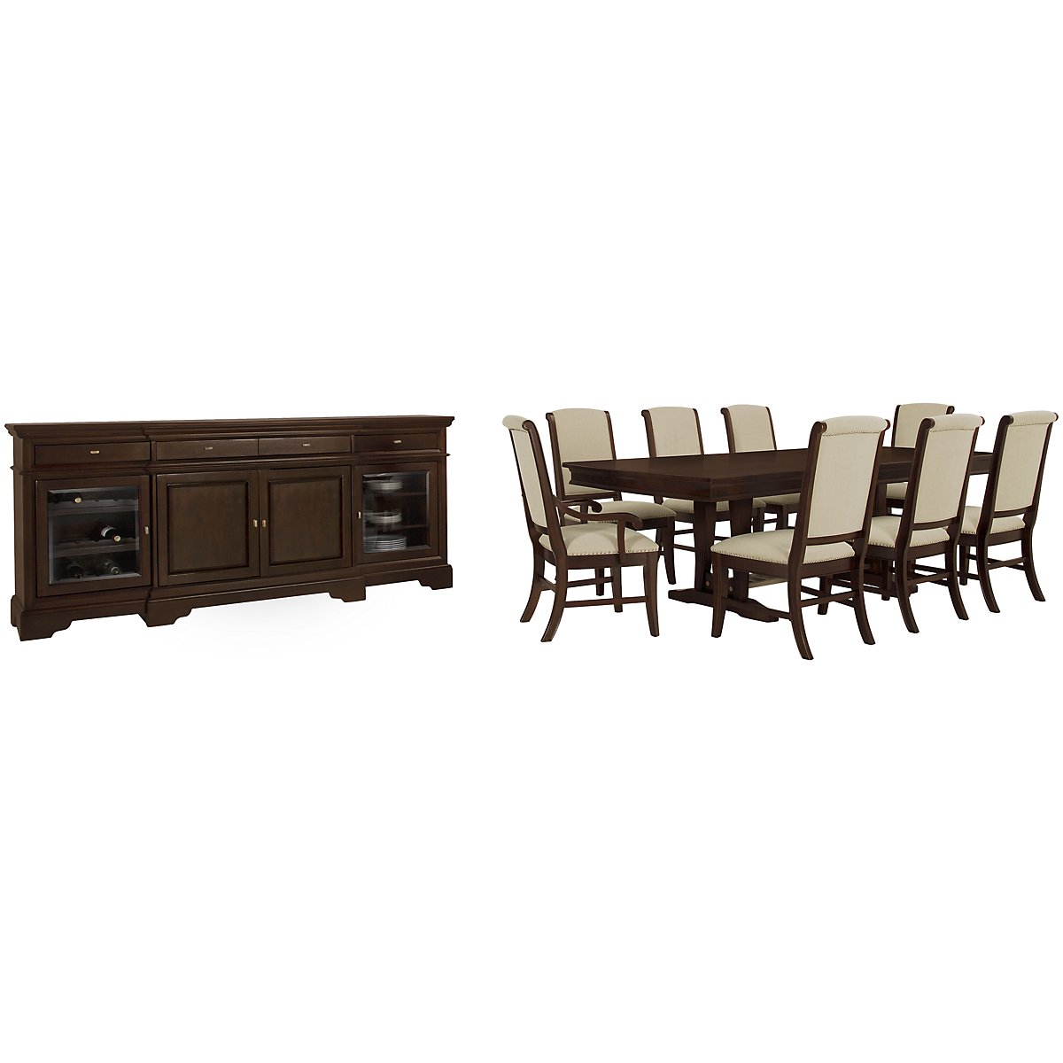 Canyon Dark Tone Trestle Dining Room