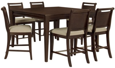 Dining Table Set 4 Seater Part - 25: Canyon Dark Tone High Dining Table