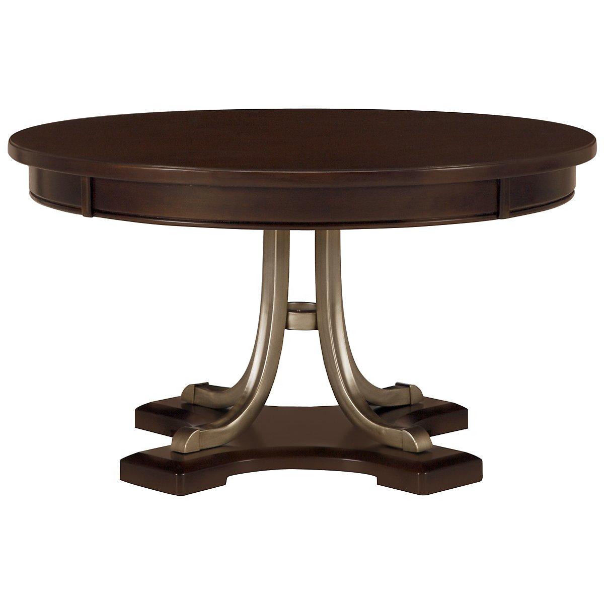 Canyon Dark Tone Wood Round Coffee Table
