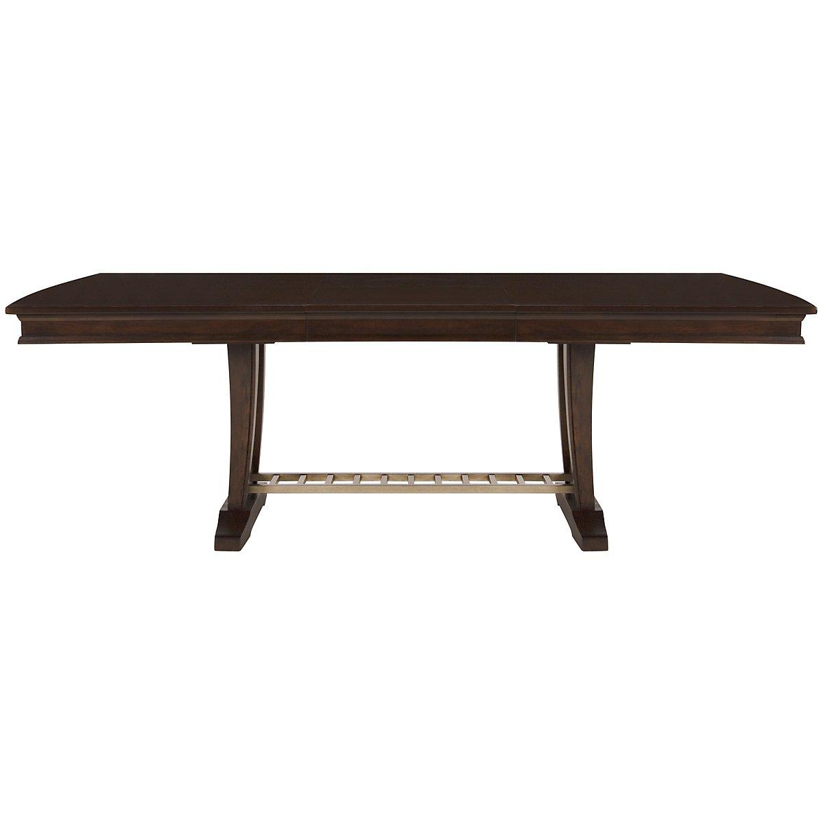 Canyon Dark Tone Trestle Table