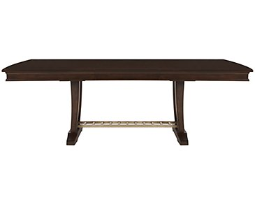 Canyon Dark Tone Trestle Table