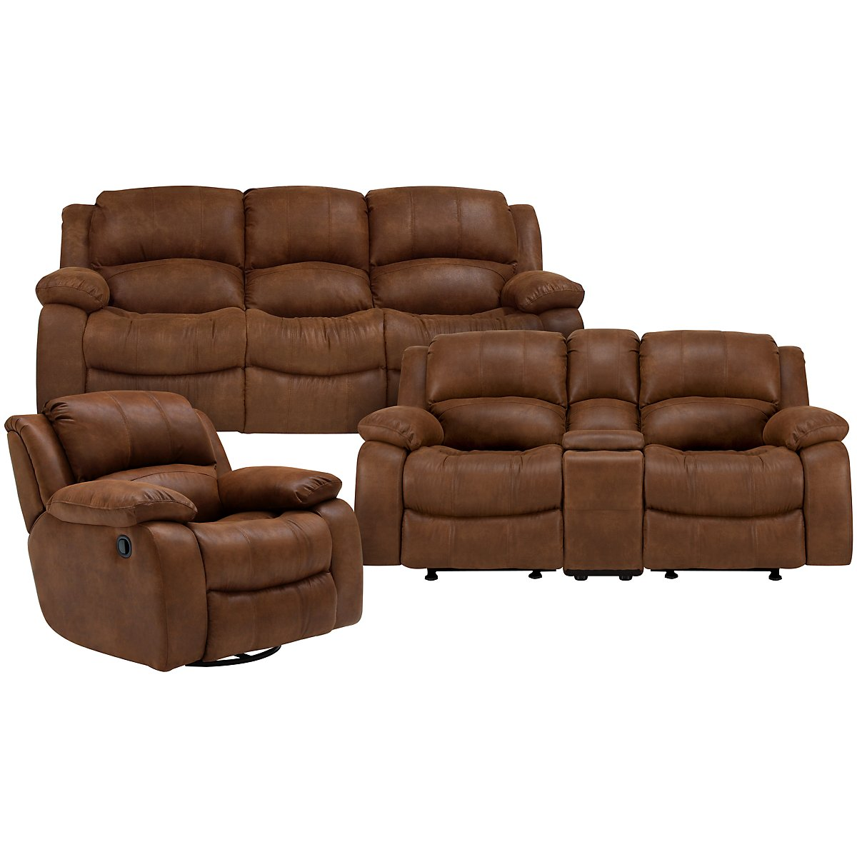 Tyler2 Medium Brown Microfiber Power Reclining Living Room
