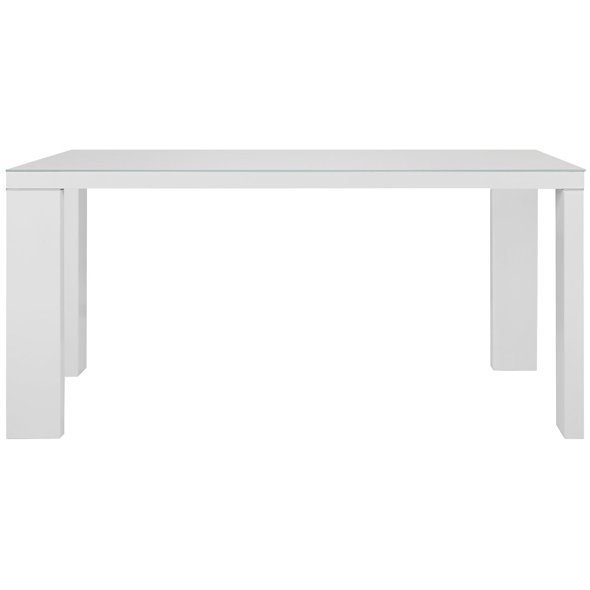 Paris White Glass Rectangular Table