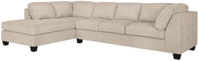 Mercer3 Light Taupe Microfiber Left Chaise Sectional