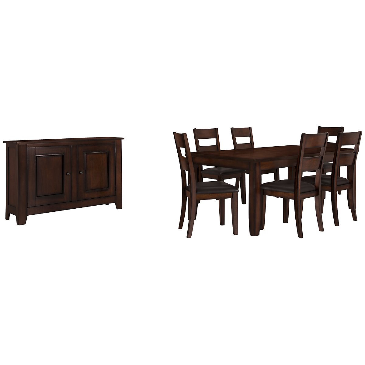 Mango2 Dark Tone Rectangular Dining Room