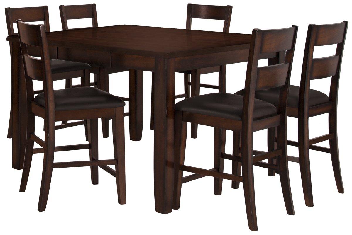 97 Bar Height Dining Table Set Tall Kitchen Dark Brown