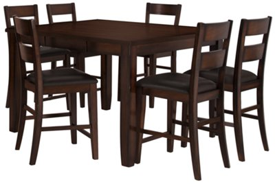 Mango2 Dark Tone High Table u0026 4 Barstools  sc 1 st  City Furniture & City Furniture: Mango2 Dark Tone High Table 4 Barstools u0026 High Bench