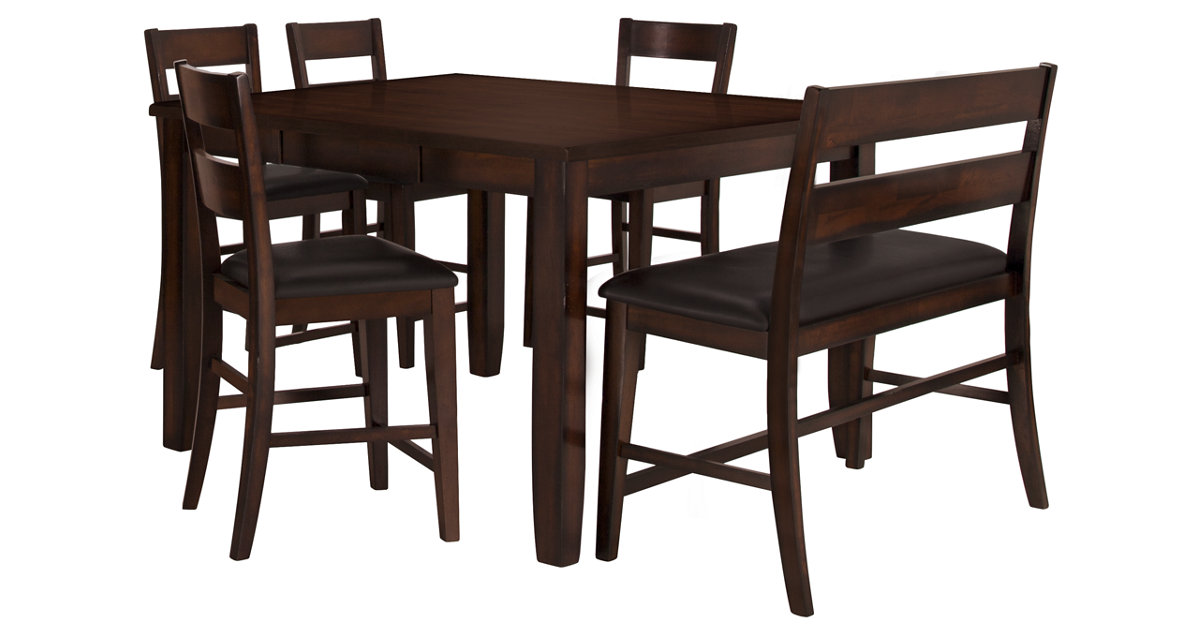 City Furniture Mango Dark Tone High Table  Barstools  High Bench
