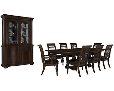 Belmont Dark Tone Rectangular Dining Room