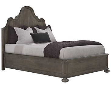 Belgian Oak Light Tone Wood Platform Bed